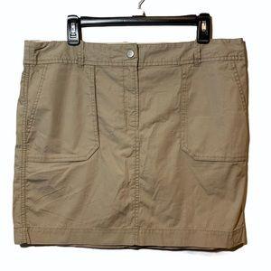 LOFT Tan Cargo Style Skirt NWT Size 12